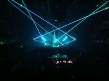 Lichteffekte an einem Konzert Lizenzfreies Stockfoto