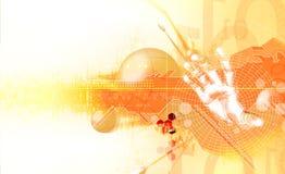 Lichteffekte und Hand Lizenzfreies Stockfoto