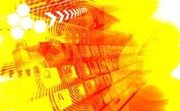 Lichteffekte und Tastatur Lizenzfreie Stockfotos