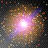 Lichteffektexplosion Lizenzfreies Stockfoto