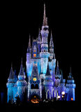 Lichten 2 van het Kasteel van het Koninkrijk van Disneyworld Magische Stock Afbeelding