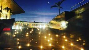 Lichten bij nacht stock foto