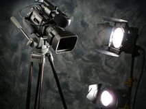 Lichten, Camera, Actie! Stock Afbeelding