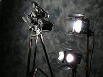 Lichten, Camera, Actie! Stock Foto