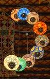 Lichten in de Kunstencentrum van Souq Waqif Stock Foto's