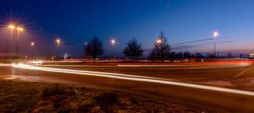 Lichten in de stad stock foto's