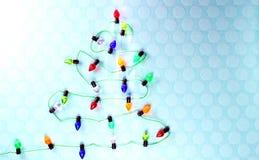 Lichten in de vorm van Kerstboom stock afbeeldingen