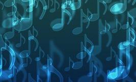 Lichten in de vorm van muzikale symbolen stock illustratie
