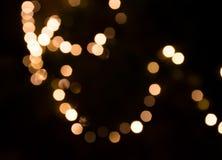 Lichten in een onduidelijk beeldeffect Stock Afbeeldingen