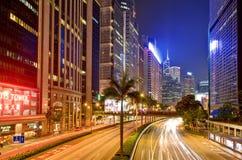 Lichten en Nacht van Hongkong Stock Afbeeldingen