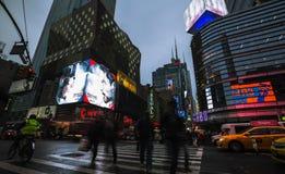 Lichten en schaduwen van de Stad van New York Stock Afbeelding