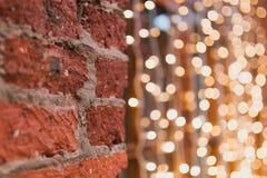 Lichten gele slinger Stock Fotografie