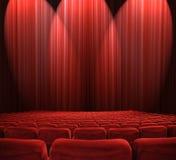 Lichten in het auditorium royalty-vrije stock afbeeldingen