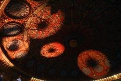 Lichten in het plafond Stock Foto