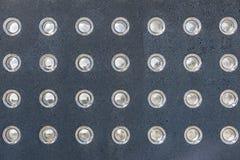 Lichten ingebed in een muur Royalty-vrije Stock Foto's