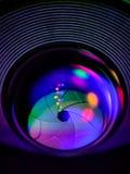 Lichten, Lens en opening royalty-vrije stock afbeeldingen