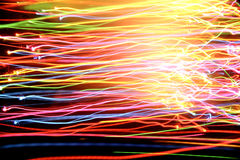 Lichten in motie Royalty-vrije Stock Afbeelding