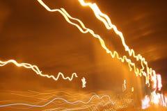 Lichten in motie Royalty-vrije Stock Foto