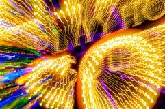 Lichten in motie stock afbeeldingen