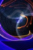 Lichten in motie bij nacht als abstracte achtergrond royalty-vrije illustratie