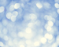 Lichten op blauwe achtergrond Stock Afbeelding