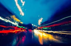 Lichten op de straat royalty-vrije stock afbeeldingen