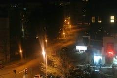 Lichten op de straathoek Royalty-vrije Stock Foto's