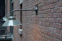 Lichten op een bakstenen muur 2 Royalty-vrije Stock Foto's