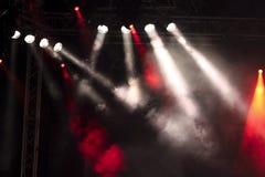Lichten op een stadium Royalty-vrije Stock Afbeeldingen