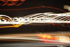 Lichten op een weg 3 Stock Foto