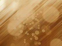 Lichten op gouden achtergrond Royalty-vrije Stock Fotografie