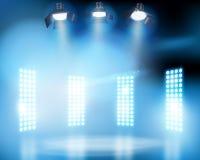 Lichten op het stadium Vector illustratie royalty-vrije illustratie