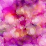 Lichten op magenta bokeh effect als achtergrond. Stock Afbeeldingen