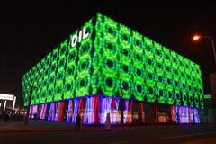 Lichten op Paviljoen 3, Shanghai Expo 2010 van de Olie Stock Foto's