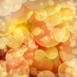 Lichten op rood oranje bokeh effect als achtergrond. Stock Afbeelding