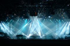 Lichten op stadium stock foto