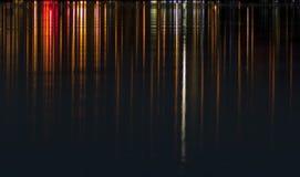 Lichten op Water Stock Foto