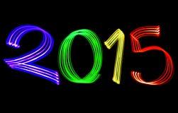 Lichten van de nieuwjaar de 2015 Vage Kleur Stock Fotografie