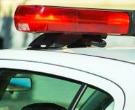 Lichten van de politiewagen stock foto