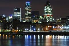 Lichten van de stad van Londen Stock Foto's
