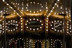 lichten van een carrousel royalty-vrije stock foto's