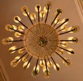 Lichten van een Kroonluchter royalty-vrije stock foto's
