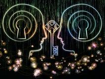 Lichten van Encryptie stock illustratie
