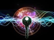 Lichten van Encryptie royalty-vrije illustratie