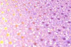 Lichten van pastelkleur de roze bokeh, feestelijke achtergrond voor kaarten of uitnodigingen royalty-vrije stock afbeeldingen