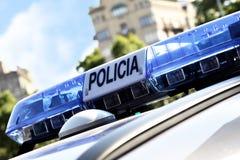 Lichten van politiewagen stock afbeeldingen