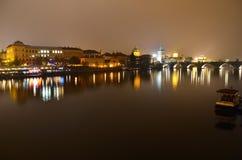 Lichten van Praag Stock Afbeeldingen