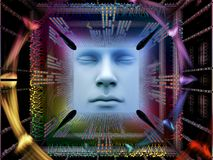 Lichten van Super Menselijke AI Royalty-vrije Stock Fotografie
