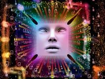 Lichten van Super Menselijke AI Stock Foto