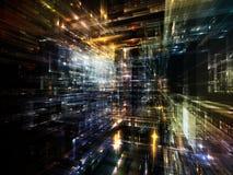 Lichten van Toekomstige Stad Stock Afbeeldingen